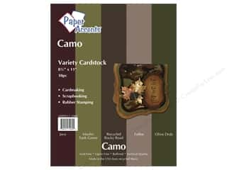 Paper Accents Cardstock: Cardstock Variety Pack 8 1/2 x 11 in. Camo 10 pc. by Paper Accents