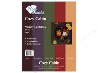 Cardstock Variety Pack 8 1/2 x 11 in. Cozy Cabin 10 pc. by Paper Accents