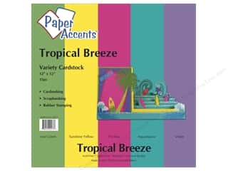 Paper Accents Cardstock: Cardstock Variety Pack 12 x 12 in. Tropical Breeze 15 pc. by Paper Accents