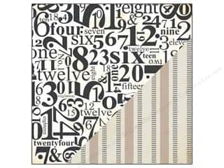 Bazzill Burlap cardstock: Bazzill 12 x 12 in. Paper Timeless Numbers/Burlap Stripe 25pc