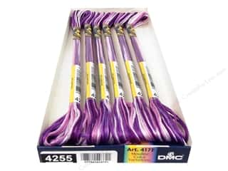 Variegated Floss: DMC Color Variations Floss 8.7 yd. #4255 Orchid (6 skeins)