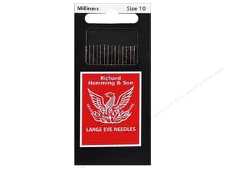 Hemming Needle Milliners/Straw Size 10 20pc