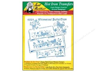 yarn & needlework: Aunt Martha's Hot Iron Transfer #4024 Whimsical Butterflies