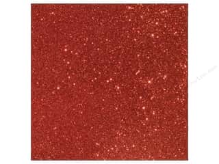 American Crafts 12 x 12 in. Cardstock Duotone Glitter Crimson (15 sheets)