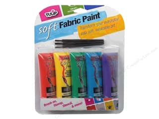 Tulip Soft Fabric Paint Multi Primary 5pc 0 .9oz