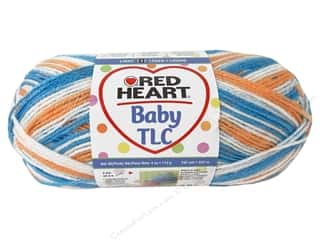 Clearance Red Heart Pomp A Doodle Yarn: Red Heart Baby TLC Yarn #5932 Baseball 242 yd.
