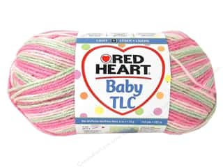 Clearance Red Heart Baby Clouds Yarn: Red Heart Baby TLC Yarn #5942 Girlie Girl 242 yd.