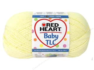 Clearance Red Heart Pomp A Doodle Yarn: Red Heart Baby TLC Yarn #5322 Powder Yellow 358 yd.