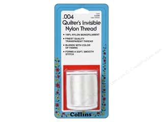 Nylon Thread / Monofillament Thread: Quilters Invisible Nylon Thread by Collins .004 Clear 1500 yd.