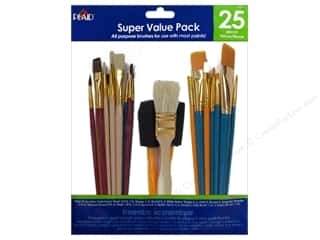 Paint Brush Flat: Plaid Paint Brush Super Value Pack All Purpose 25 pc