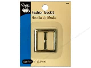 Buckles: Fashion Buckle by Dritz 1 in. Metallic Gold