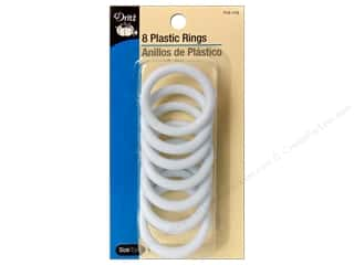 Buttons: Plastic Rings by Dritz 1 1/2 in. 8pc.