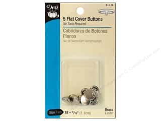 Cover Buttons by Dritz Flat 7/16 in. 5 pc.