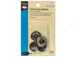 Cover Buttons by Dritz Flat 7/8 in. 3 pc.