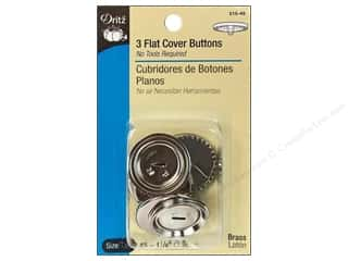 Dritz Flat Cover Buttons - 1 1/8 in. 3 pc.