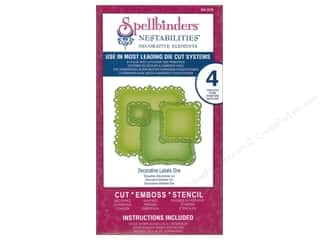 die cutting machines: Spellbinders Nestabilities Die Decorative Labels One