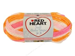 Clearance Red Heart Baby Clouds Yarn: Red Heart Soft Baby Steps Yarn #9931 Sorbet 204 yd.