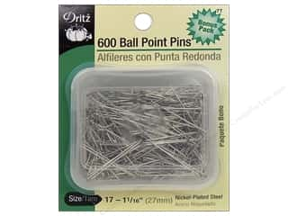 straight pins: Ball Point Pins by Dritz Size 17 600pc