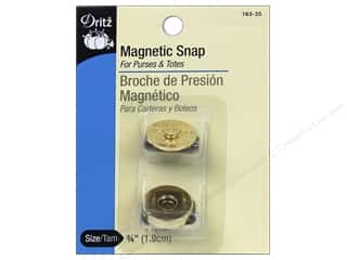 Dritz Magnetic Snaps 3/4 in. Gilt 2 pc.