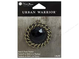 Clearance Blue Moon Pendant: Blue Moon Beads Metal & Plastic Pendants Urban Warrior Black Rhinestone