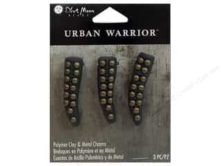 beading & jewelry making supplies: Blue Moon Beads Metal Charms Tusk 3pc Black Oxidized Brass