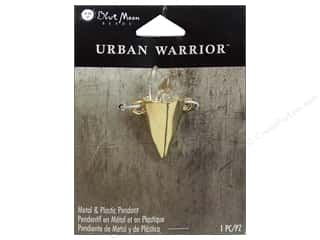 Clearance Blue Moon Pendant: Blue Moon Metal & Plastic Pendant Urban Warrior Gold Cone with Crystals