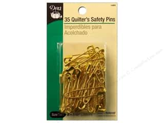 safety pin: Quilter's Safety Pins by Dritz 1 1/2 in. Brass 35pc.