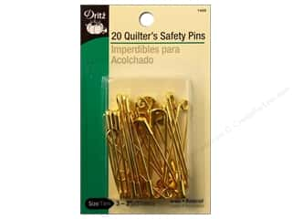 Safety pins: Quilter's Safety Pins by Dritz 2 in. Brass 20pc.