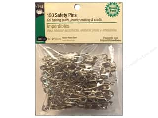 Safety pins: Safety Pins by Dritz 2 in. Nickel 150pc.