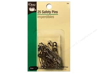 Safety Pins by Dritz Assorted Nickel 25pc.