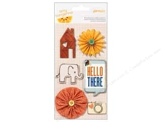 American Crafts Buttons: American Crafts Dimensional Stickers Amy Tangerine Ready Set Go