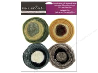Dimensions 100% Wool Felt Embellishment Roving Rolls Earth