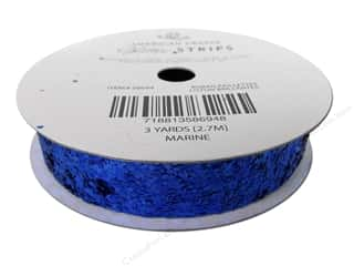 American Crafts Large Glitter Ribbon 5/8 in. x 3 yd. Solid Marine