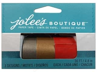 Weekly Specials DieCuts Box of Cards: EK Jolee's Boutique Embellishment Paper Tape Set Red & Gold 3pc