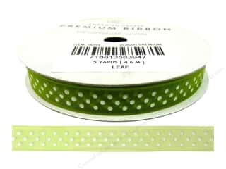 American Crafts Sheer Ribbon with Dots 3/8 in. x 5 yd. Leaf