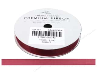 American Crafts Sheer Ribbon 3/8 in. x 9 yd. Scarlet Pomegranate