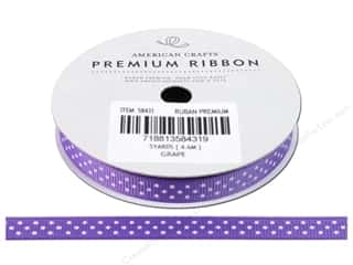 American Crafts Grosgrain Ribbon with Dots 3/8 in. x 5 yd. Grape