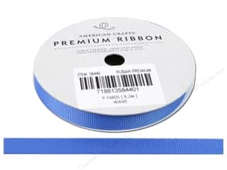 American Crafts Grosgrain Ribbon 3/8 in. x 9 yd. Solid Wave