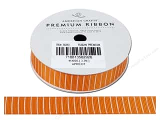 American Crafts Grosgrain Ribbon with Lines 5/8 in. x 4 yd. Apricot