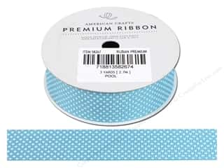 American Crafts Grosgrain Ribbon with Stars 7/8 in. x 3 yd. Pool