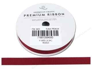 American Crafts Grosgrain Ribbon 3/8 in. x 9 yd. Rouge