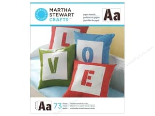 Clearance Plaid Paper Stencils: Martha Stewart Stencils by Plaid Paper Alphabet Sans Serif