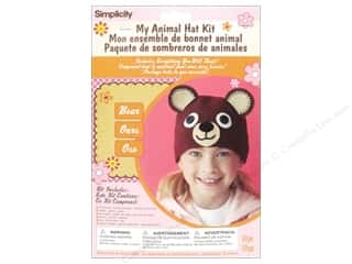 crochet button: Simplicity My Animal Hat Kit Bear