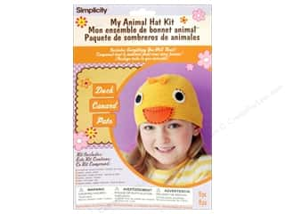 crochet button: Simplicity My Animal Hat Kit Duck