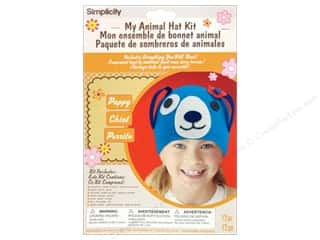 crochet button: Simplicity My Animal Hat Kit Puppy