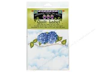 "Labels: Jody Houghton Quilt Label 6""x 6"" Hydrangea"