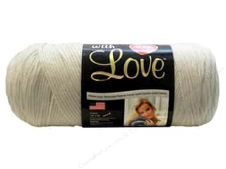 yarn & needlework: Red Heart With Love Yarn 370 yd. #1101 Eggshell