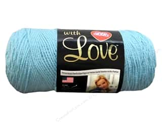 yarn & needlework: Red Heart With Love Yarn 370 yd. #1502 Iced Aqua