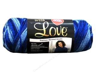 yarn & needlework: Red Heart With Love Yarn 230 yd. #1937 Deep Blues