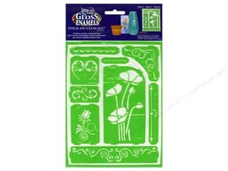 craft & hobbies: DecoArt Americana Gloss Enamels Stick-On Stencils 6 x 8 in. Elegance
